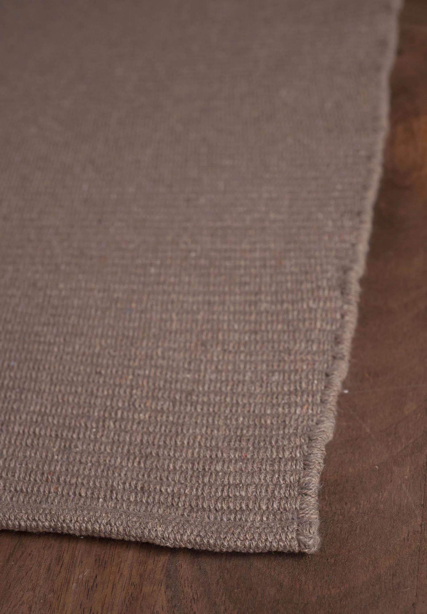Solid Taupe Flatweave Eco Cotton Rug Hook Amp Loom