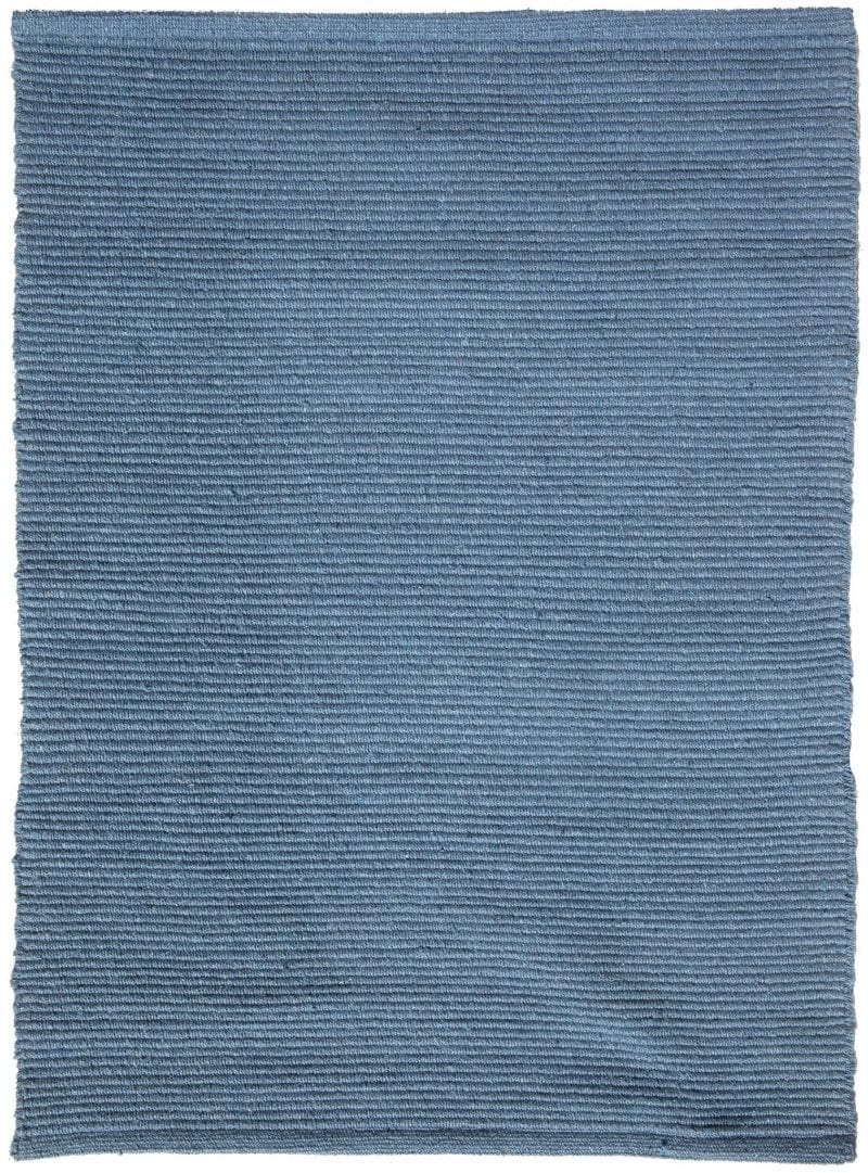 Solid Denim Blue Flatweave Eco Cotton Rug Hook Amp Loom