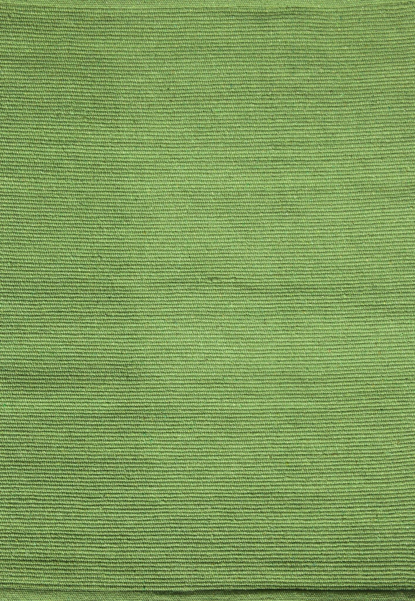 Solid Green Flatweave Eco Cotton Rug Hook Amp Loom