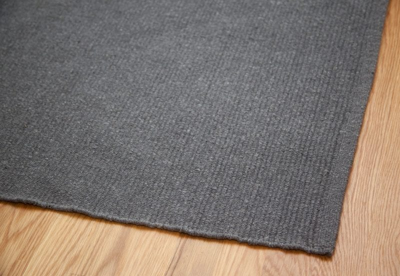 Solid Grey Flatweave Eco Cotton Rug Hook Amp Loom