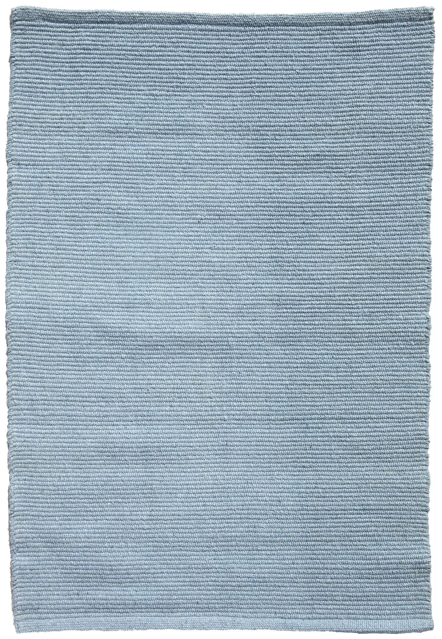 Solid Light Blue Flatweave Eco Cotton Rug Hook Amp Loom