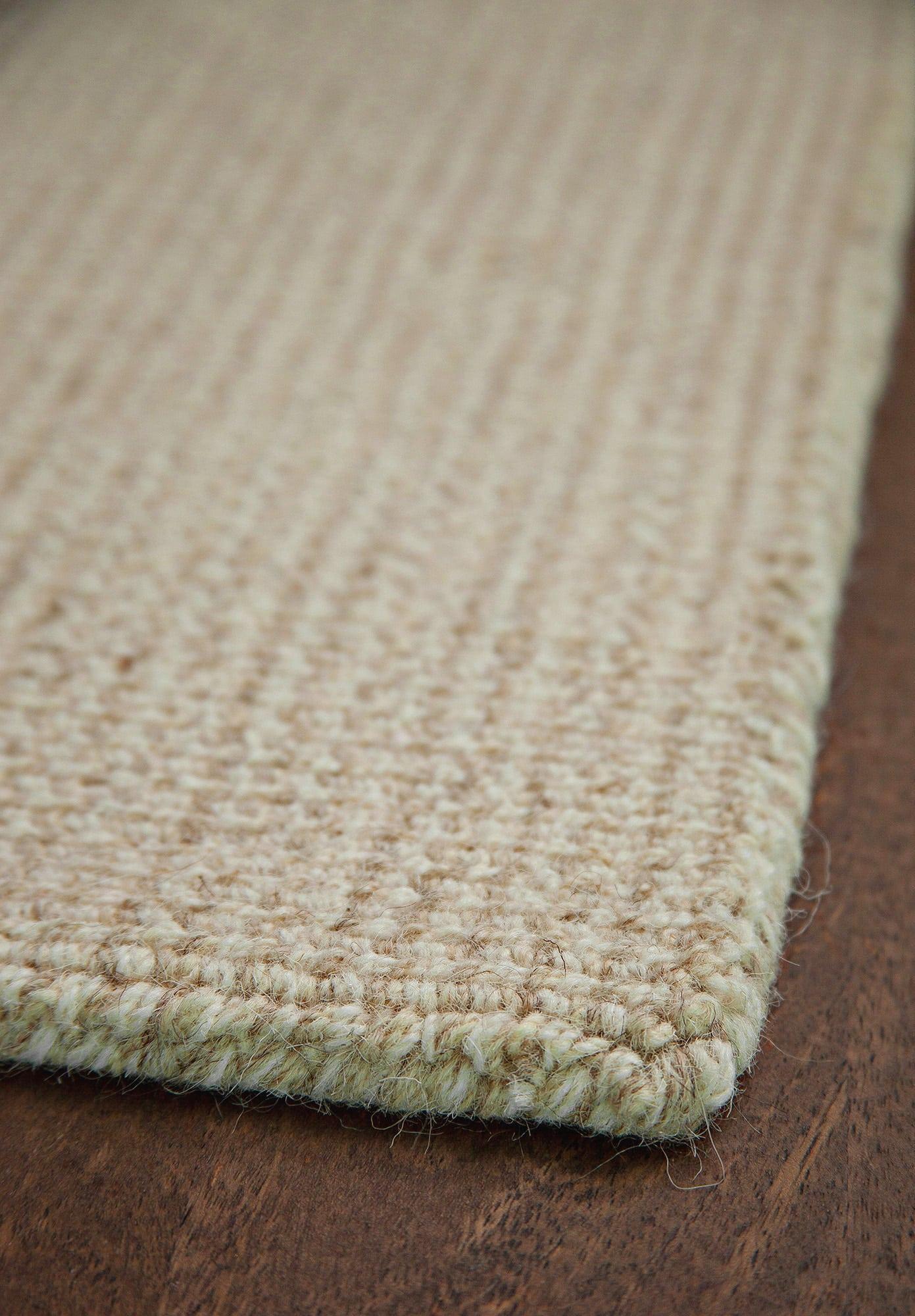 Yorkshire Natural Wool Loom Hooked Rug