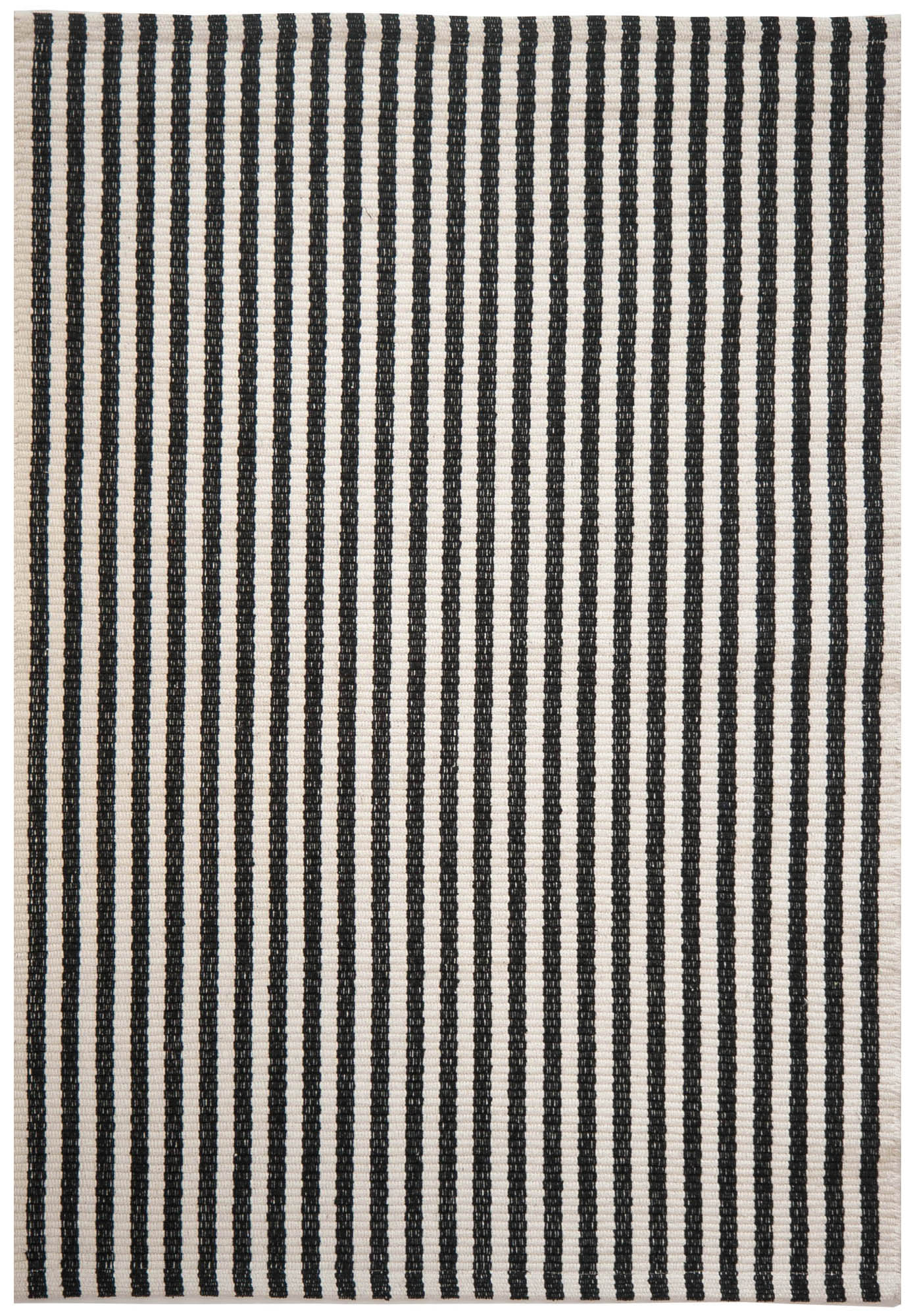 Chester Eco Cotton Rug Black White Hook Amp Loom