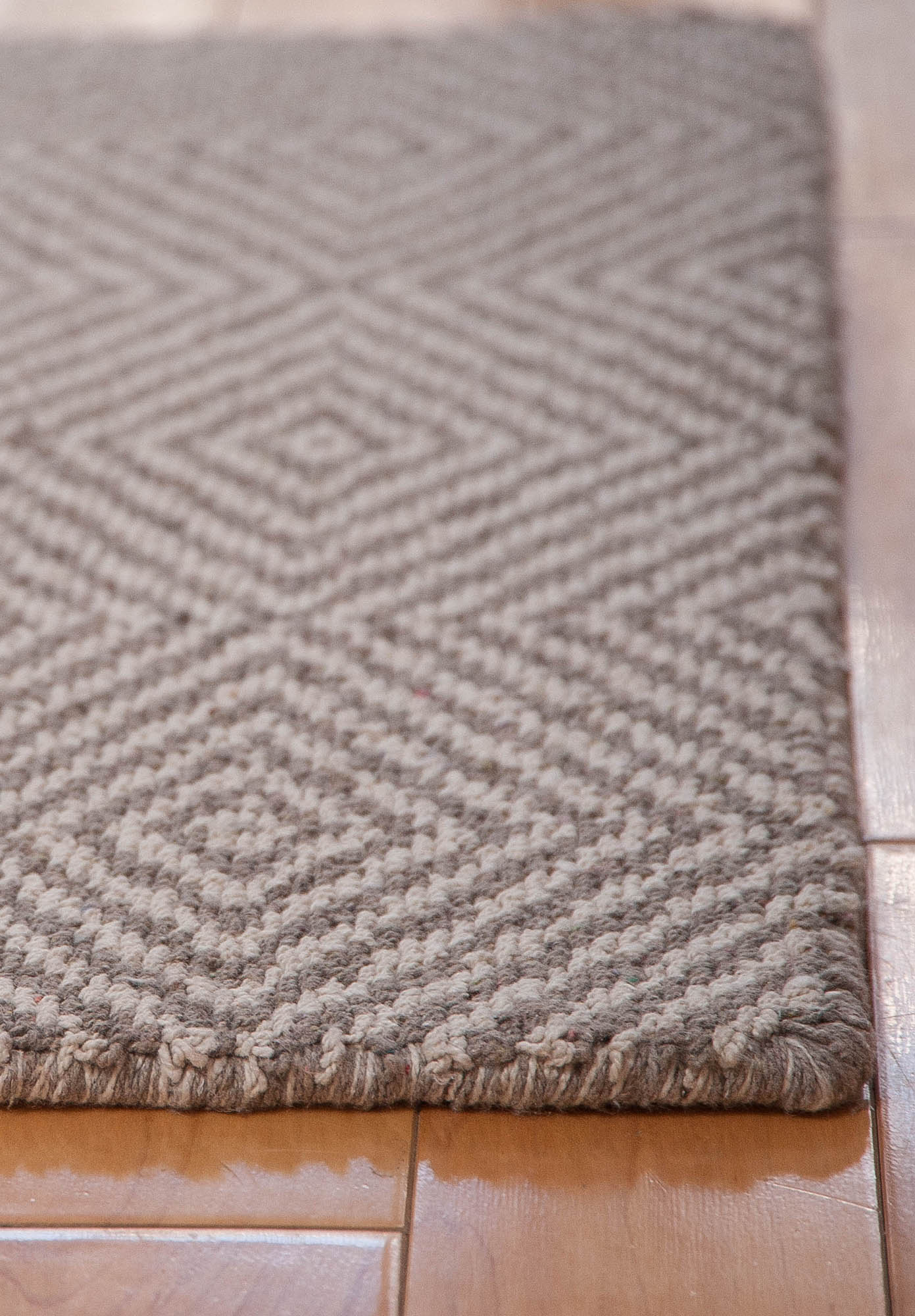 Kensington Taupe Natural Eco Cotton Loom Hooked Rug Hook