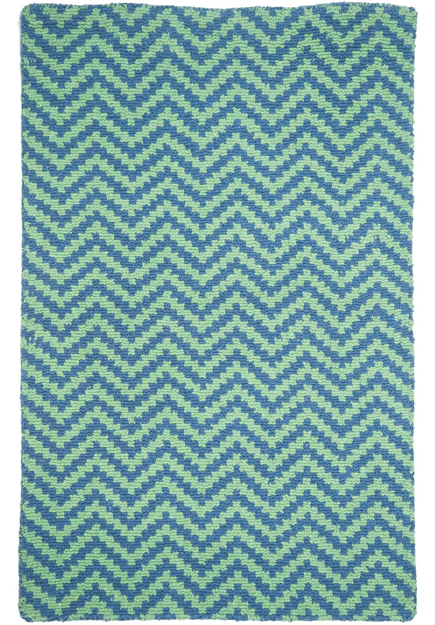 New Waves Blue Green Eco Cotton Loom Hooked Rug Hook Amp Loom