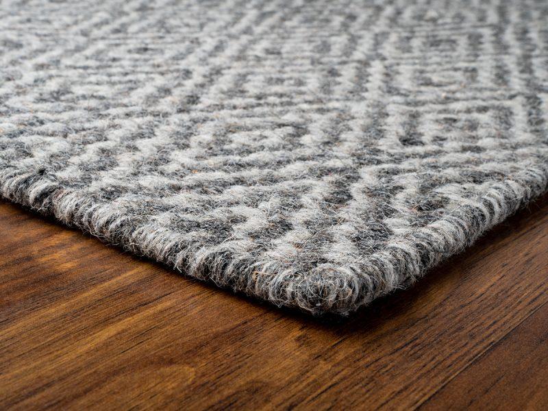 gray woven rug