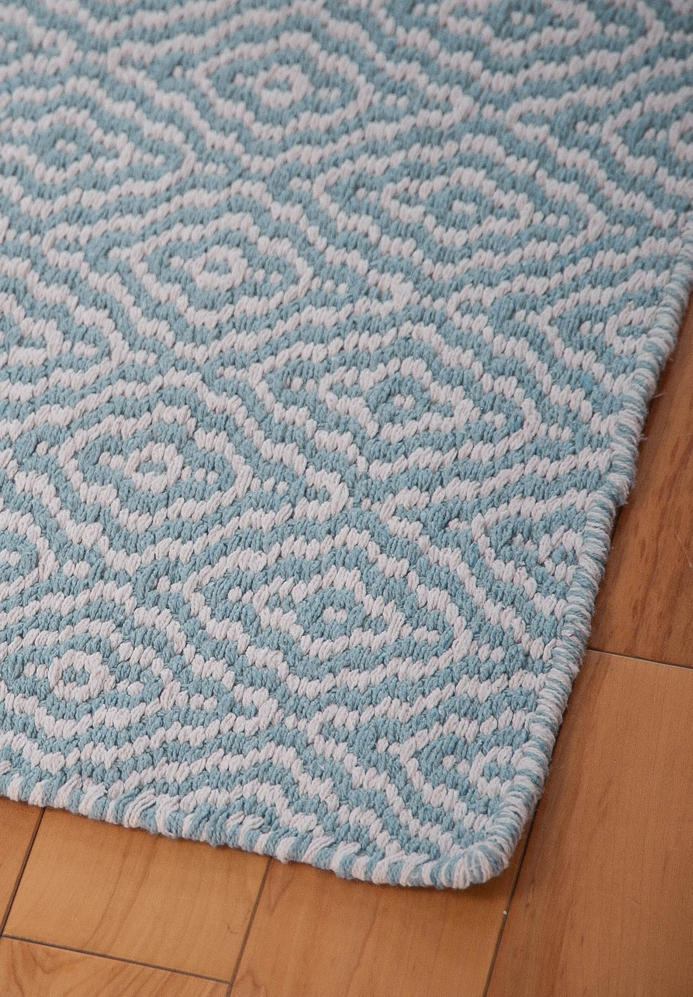 We ... - Savannah Eco Cotton Rug - Light Blue And White - Hook & Loom