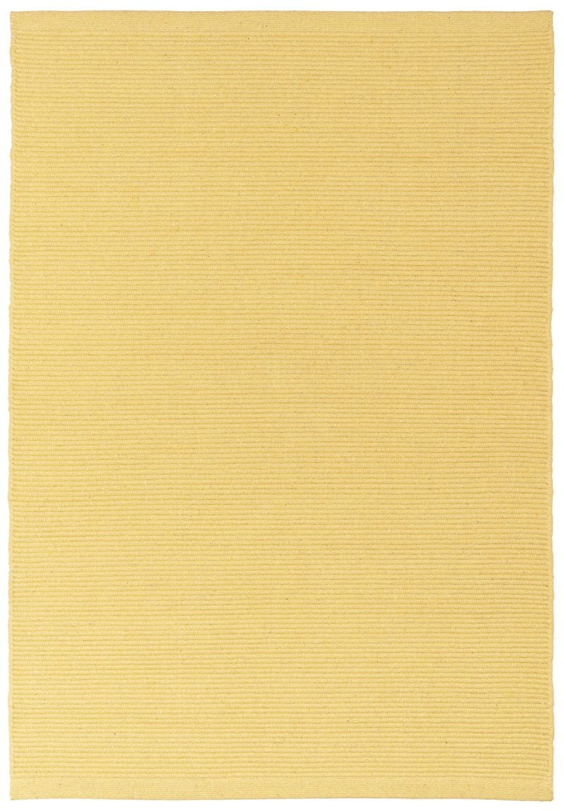 Solid Butter Yellow Flatweave Eco Cotton Rug Hook Loom