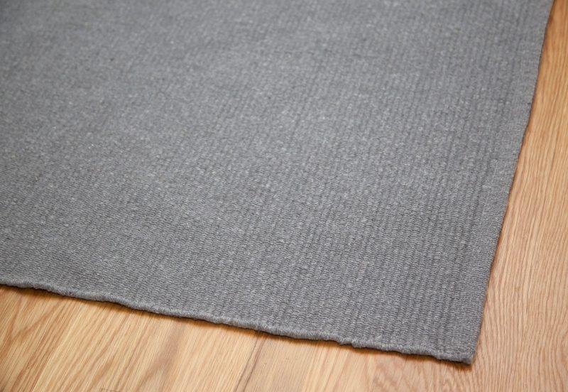Solid Medium Grey Flatweave Eco Cotton