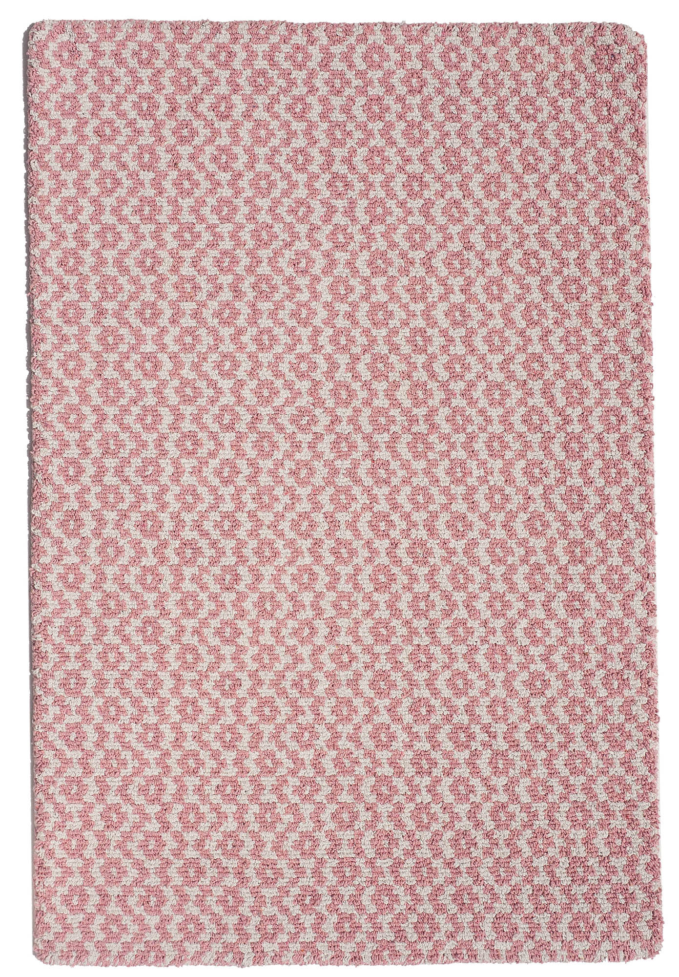 Toulouse Pink White Eco Cotton Loom Hooked Rug Hook Amp Loom