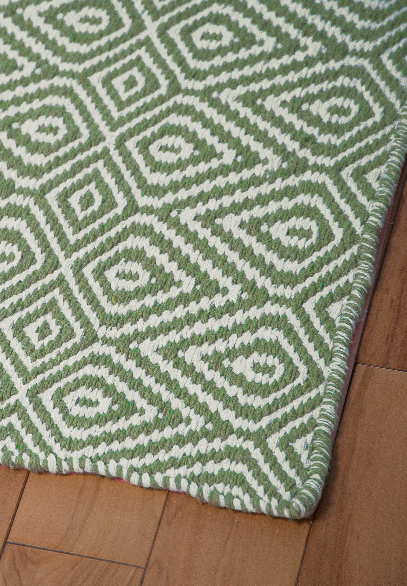 White And Green Rug Home Decor
